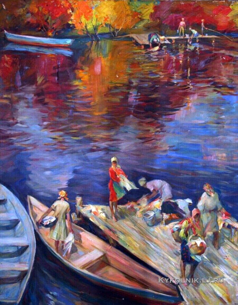 Лежников Юрий Петрович (1936-1995) «На реке»