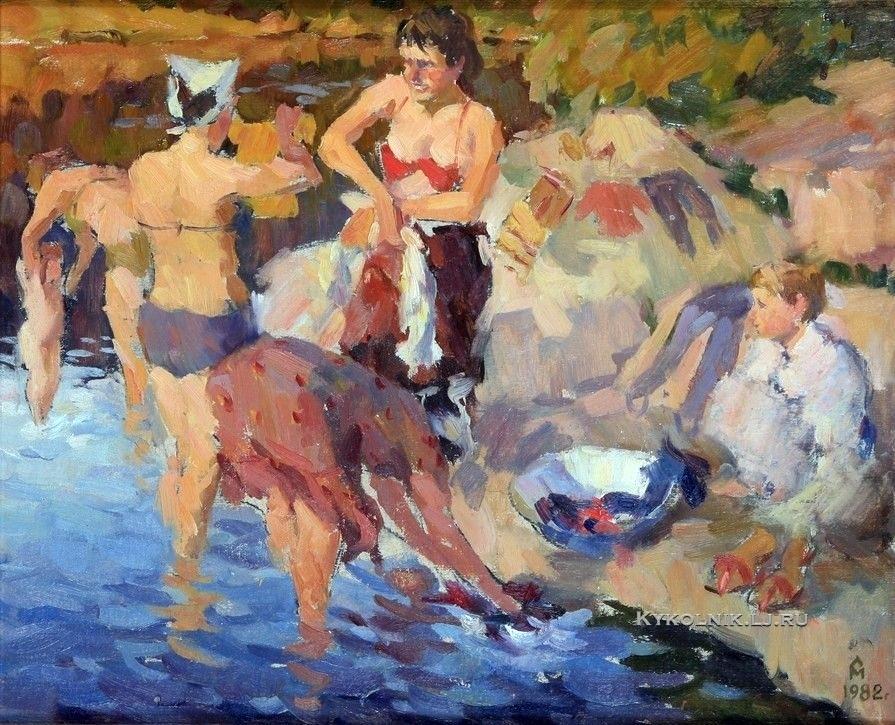 Медяников Сергей Иванович (Россия, 1955) «Стирка» 1982