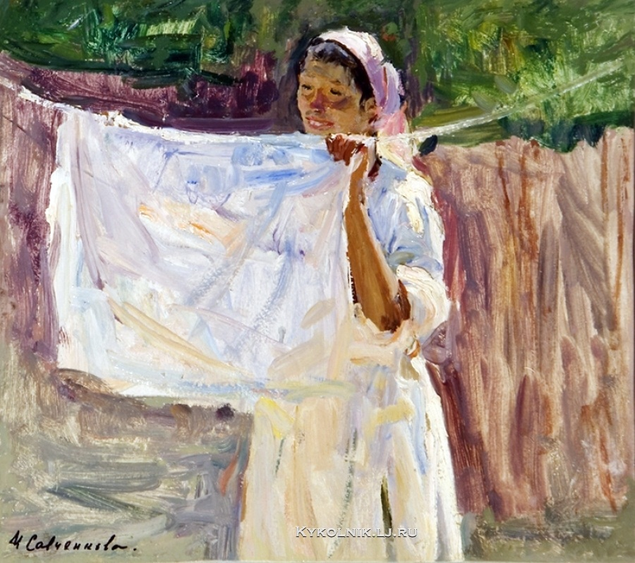 Савченкова Мария Владимировна (1917-) «Прачка» 1954