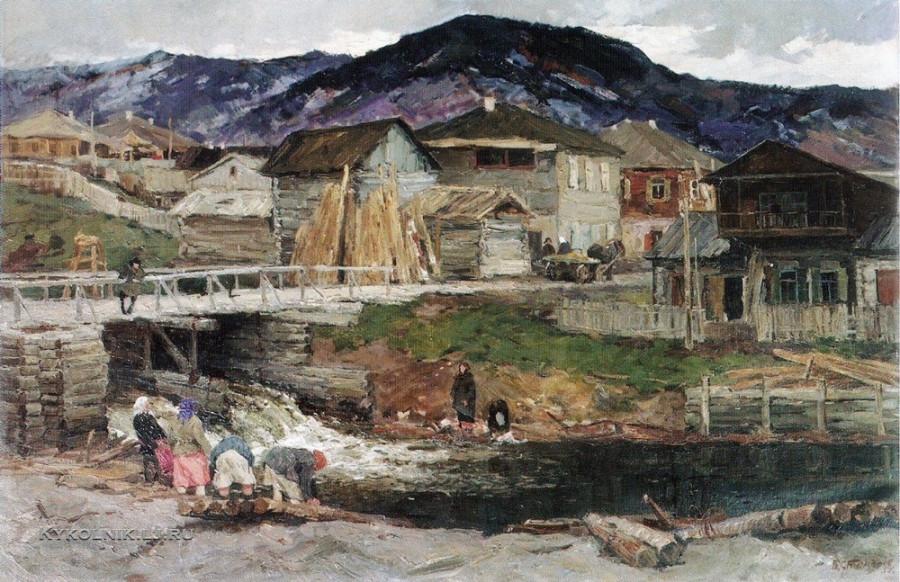 Стожаров Владимир Федорович (1926-1973) «Река Базайка» 1958