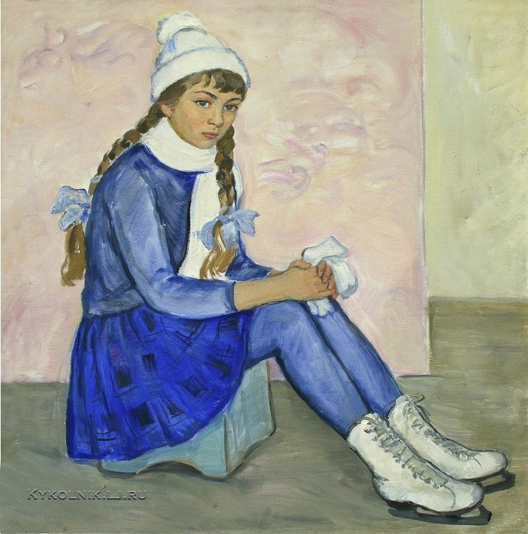Попова Ирина Николаевна (1923-1988) «Фигуристка» 1968а