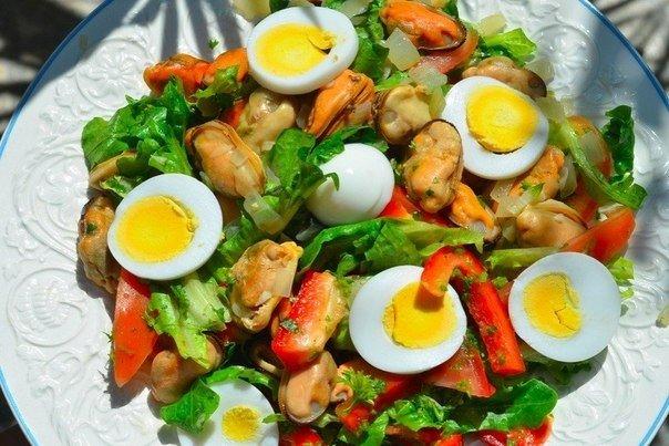 Рецепты салат с мидии