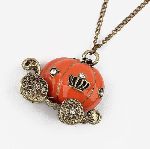 Free-Shipping-European-and-American-fashion-fairy-tale-world-retro-pumpkin-Diamond-Long-Necklace-Orange-91454