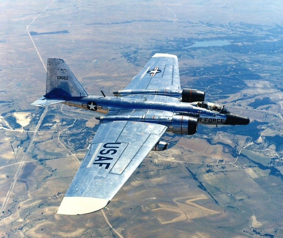 Авиаретро. Martin RB-57 США. Доработанная версия британского бомбардировщика English Electric Canberra