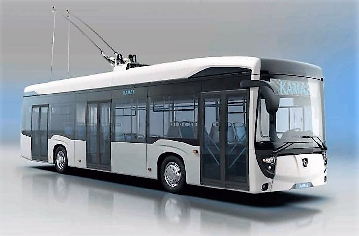 Новый городской низкопольный троллейбус  KAMAЗ-62825