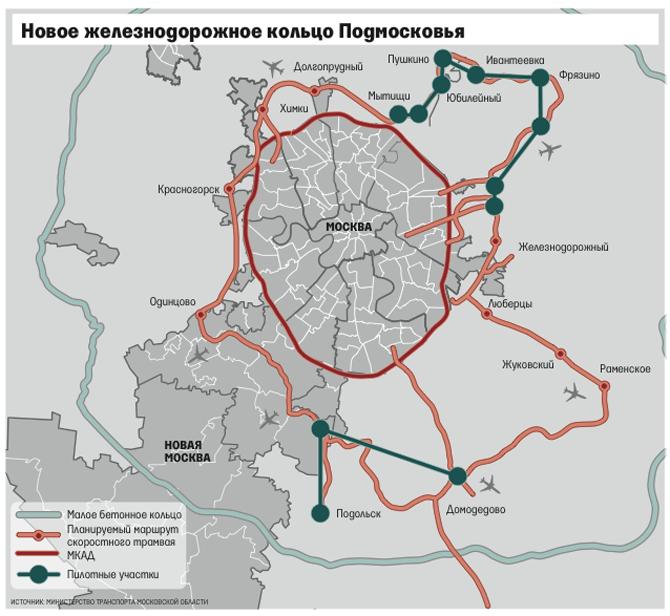 Схема скоростной трамвай в подмосковье