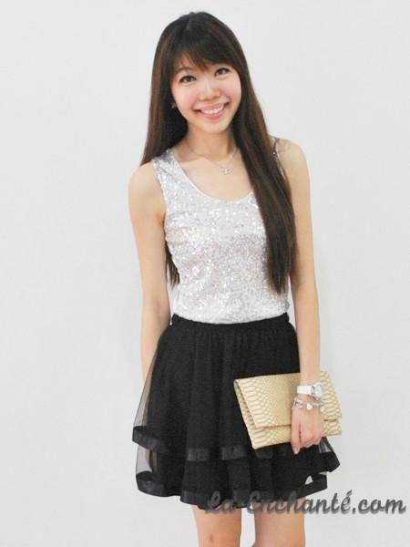 chiffon swirl skirt black (9)