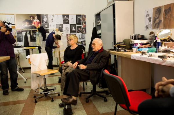 Дезире Корридони и Пьеро Този в Centro Sperimentale di Cinematografia. Из личного архива Д. Корридони