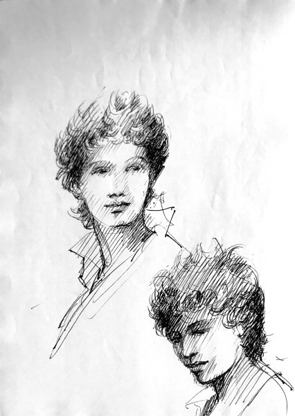 Эскиз грима и прически Пьеро Този. Из личного архива Д. Корридони