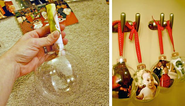 Оригинальный новогодний шар своими руками