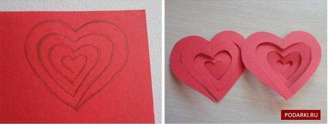 Объёмная открытка сердце в руках на день рождения