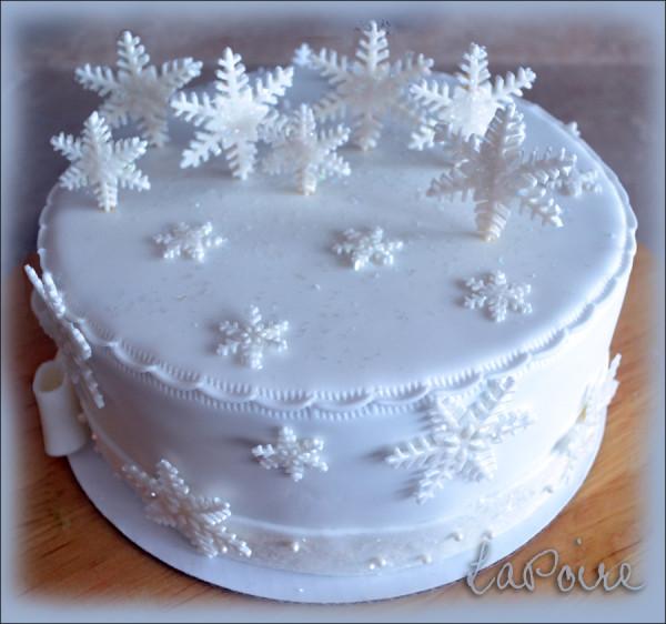 Снежные картинки на торт