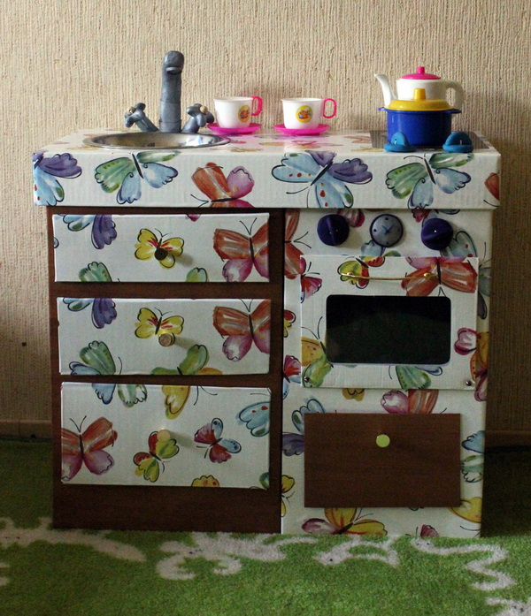 Гифка кухня из коробок для девочек, открытка