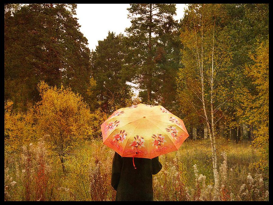 пейзаж с зонтом копия