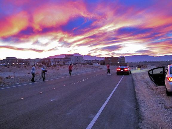 Велоколепный закат на съемках Стиллавина в Лас Вегасе