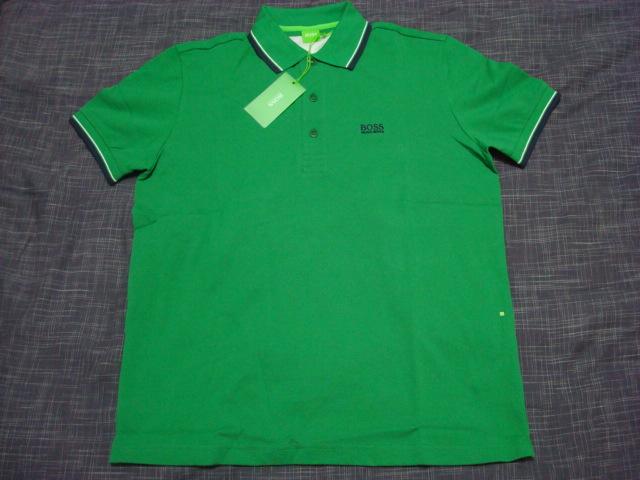 hugo boss green polo
