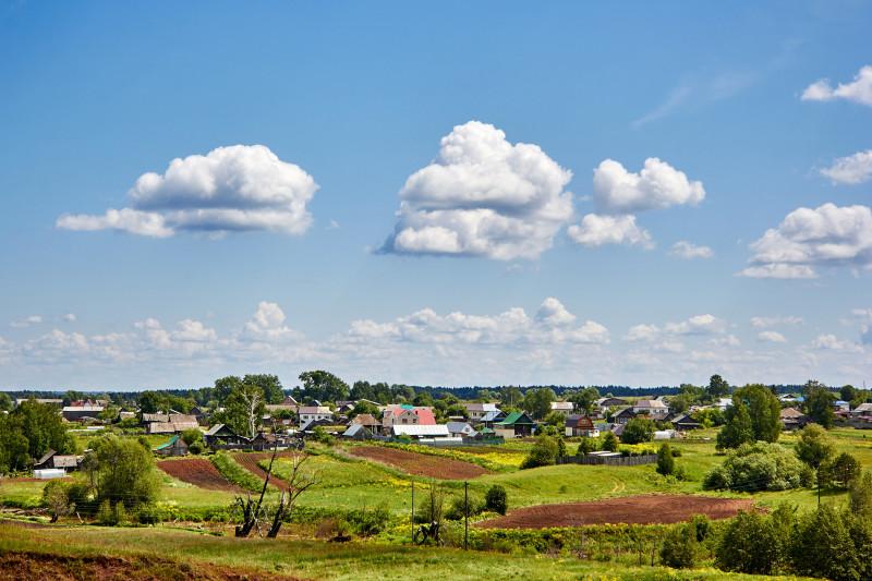Облака над селом Перевозное. Воткинский район Удмуртии