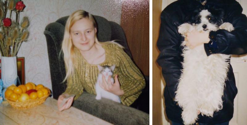 Слева: я и Муха в 2003 году. Справа Шара.