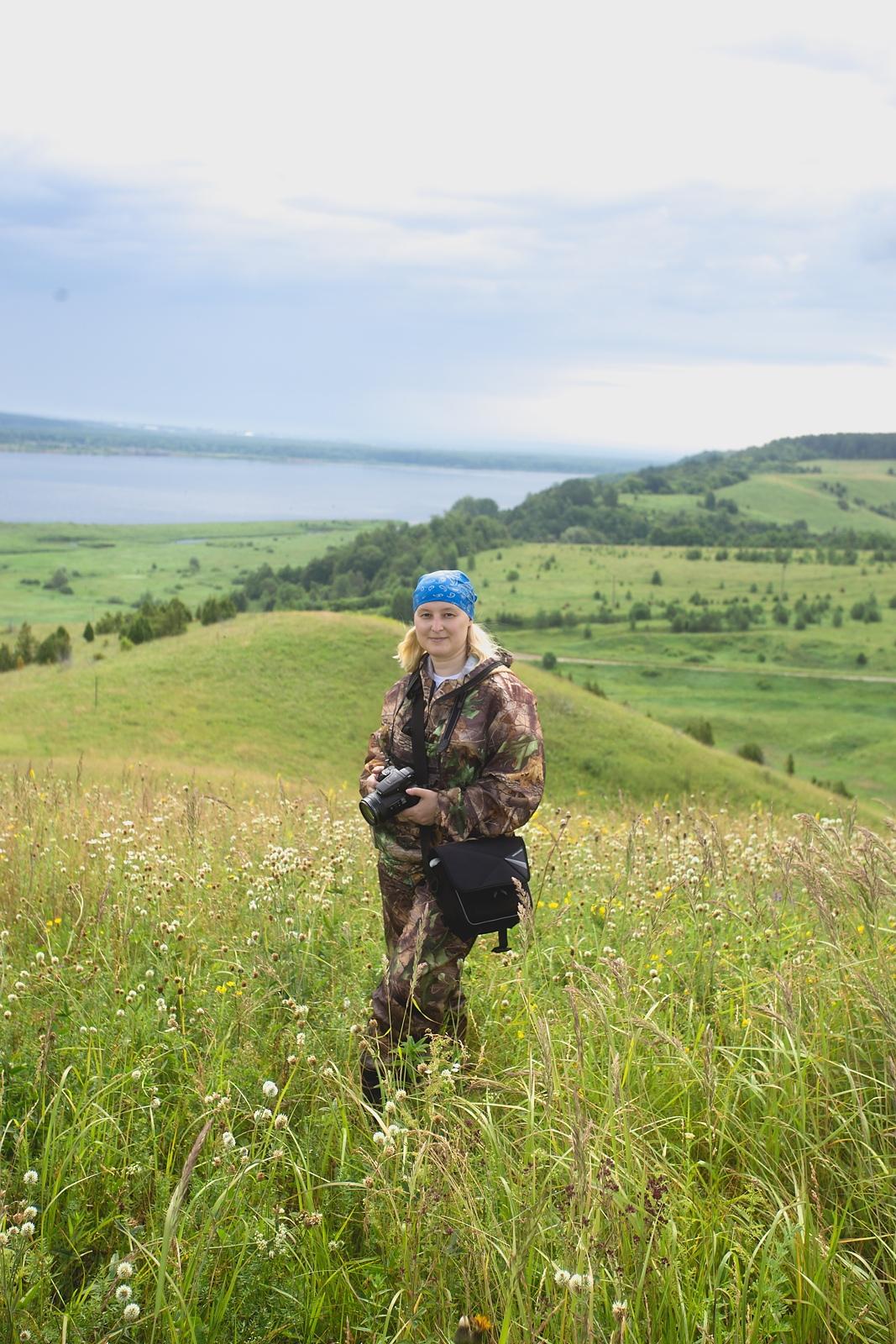 Я после подъема на первый холм. Фото Алексея Красноперова