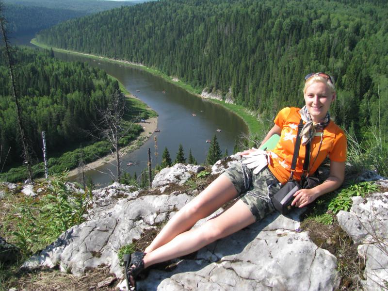 На горе с видом на реку Чусовая, Пермский край, 2011 г.