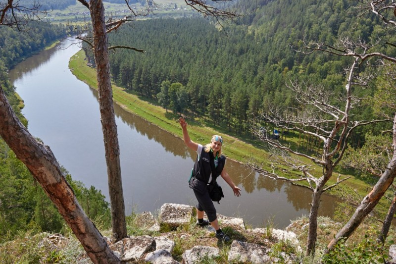 Вид со мной на реку Ай. Башкортостан.
