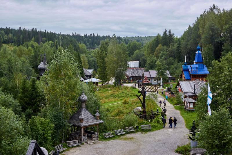 Парк истории реки Чусовой, вид с колокольни
