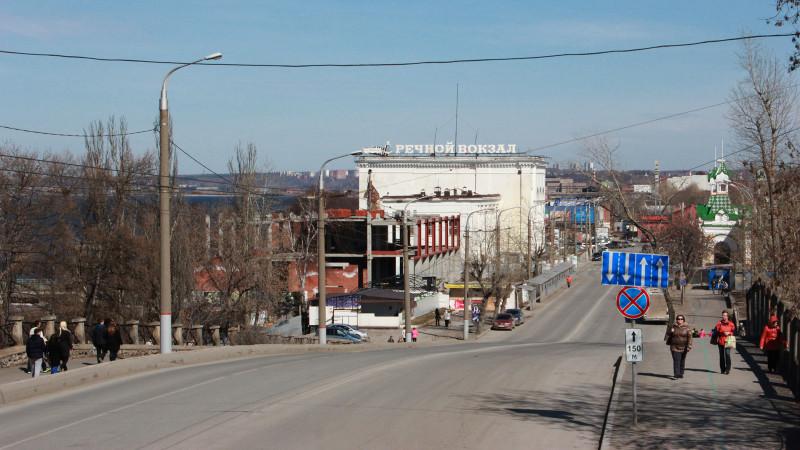 Пермь. Вид на речной вокзал. Апрель 2014.