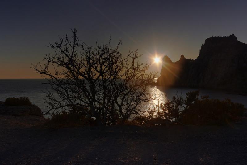Закат в Новом свете. Крым.