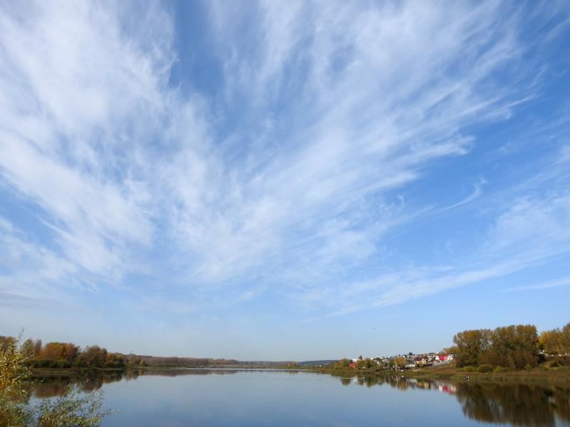 Небо над Пироговским прудом