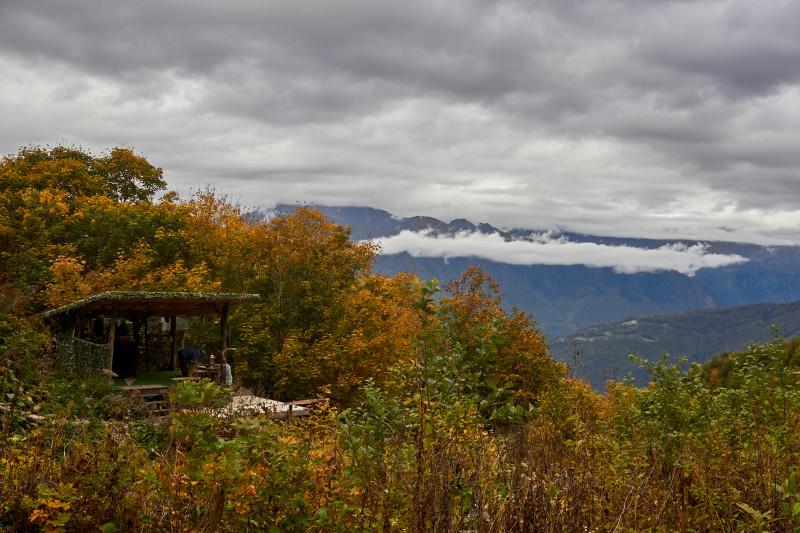 Палатка с горным чаем