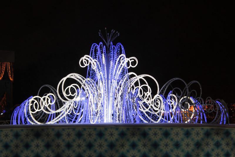 Световой фонтан, Центральная площадь Ижевска, 2013 г.