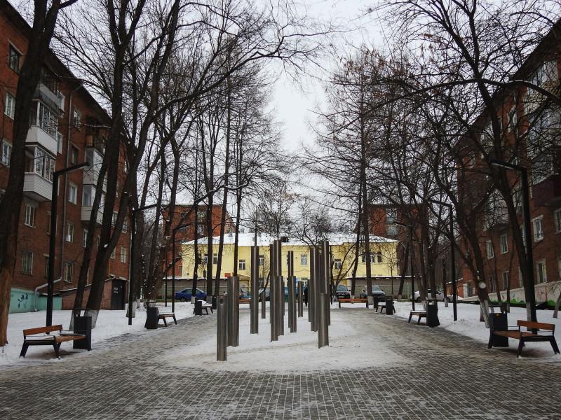 Птичий сквер, Ижевск, январь 2021