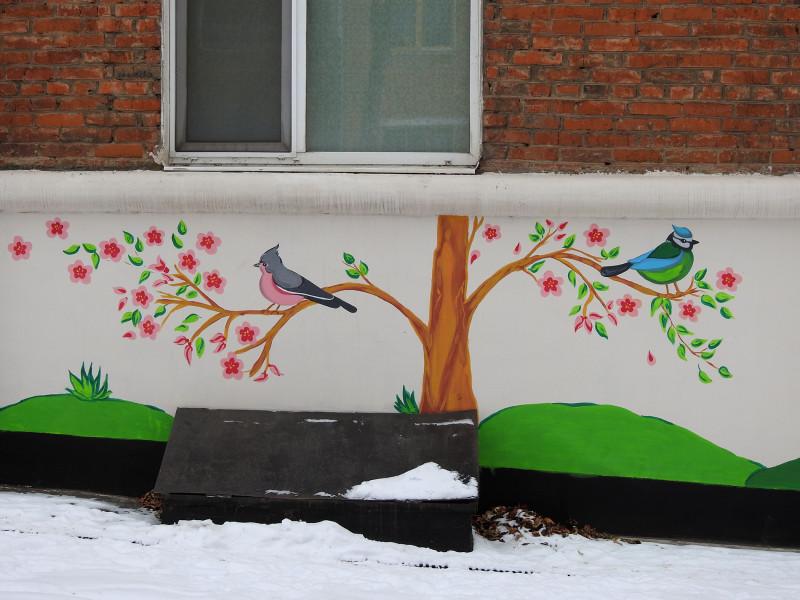 фасад дома на ул. Коммунаров 191а, Ижевск, январь 2021