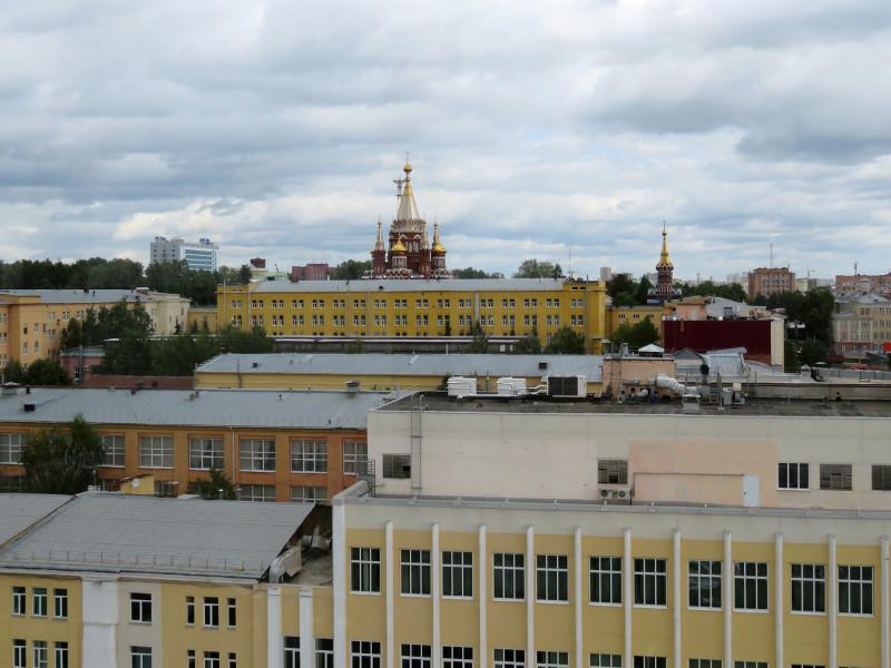Купола Михаило-Архангельского собора.