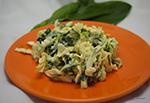 Капустный салат с черемшой