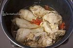 Курица на овощной подушке