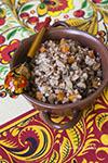 Гречневая каша с овощами и грибами
