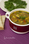Суп с баклажанами постный