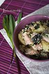 Черемша с лососем и картофелем
