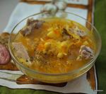 Мясной суп с нутом и квашеной капустой