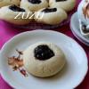 Печенье с миндальной ноткой и клубничным джемом