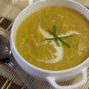 Тыквенный суп с пряностями и кокосовым молоком