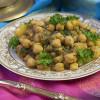 Индийское карри из нута и шпината