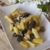 Жареная картошка со сморчками