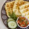 Картофельные вафли с базиликом