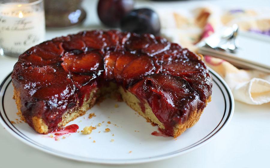 Пирог перевертыш со сливами рецепт с фото пошагово