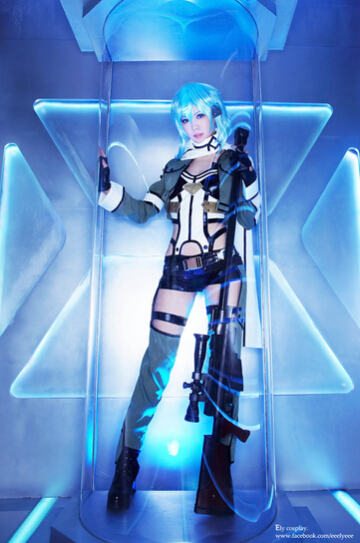 Awesome Sword Art Online Sinon Cosplay