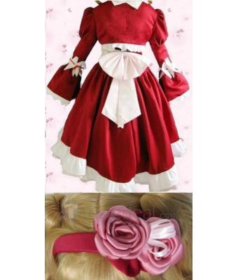 kuroshitsuji Elizabeth Middleford Red Cosplay Costume