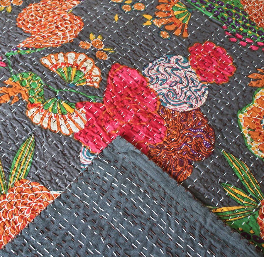 original_tropical-flowers-kantha-throw