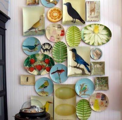 Art+decor+design+interior+design+bohemian+wall+art+plates+platters5